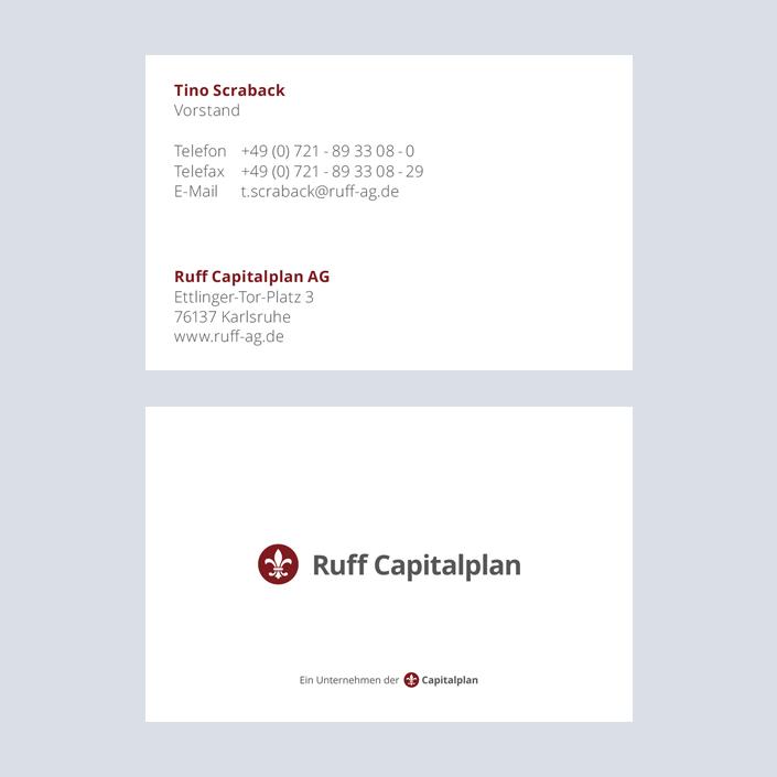 Capitalplan Visitenkarte