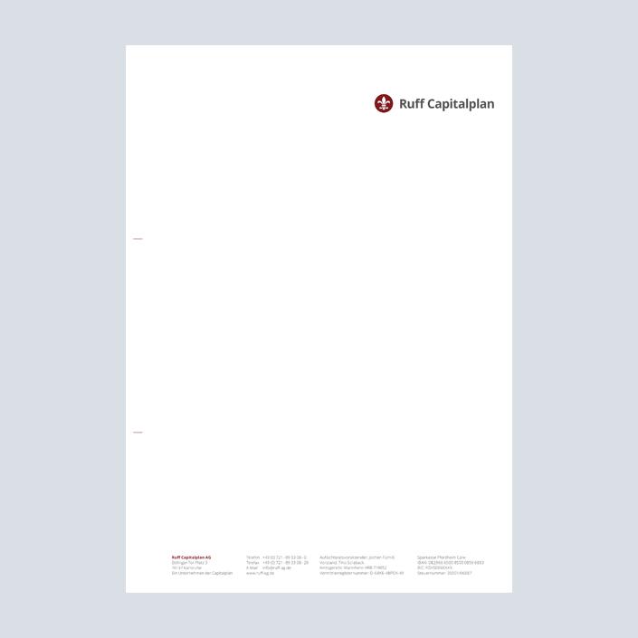 Capitalplan Briefbogen