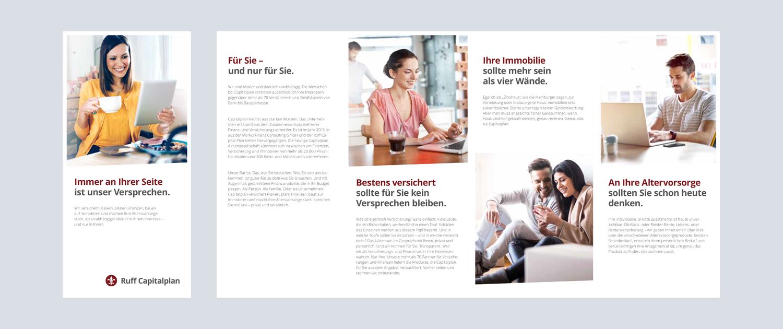 Capitalplan Flyer Titel und Innenseiten