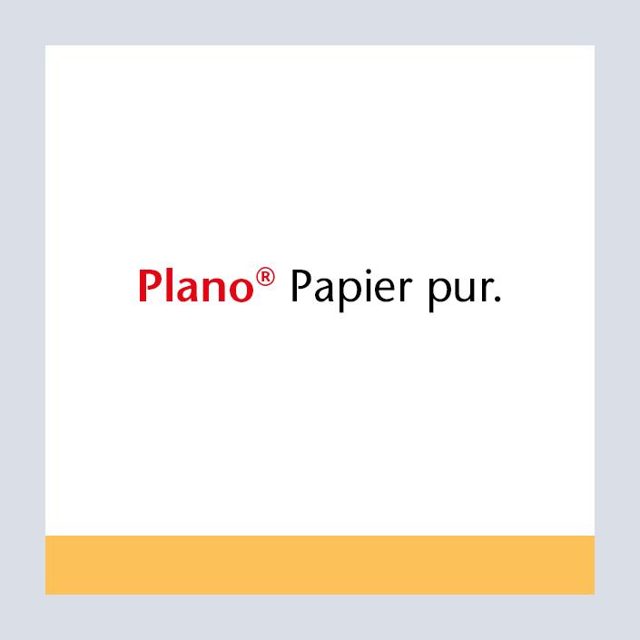Papyrus Plano Produktlogo und Claim