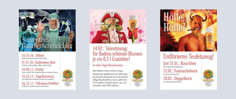 Vogelbräu Plakate