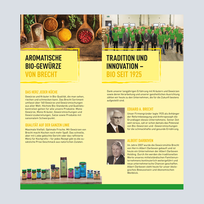 Brecht Flyer Innenseiten Innovation und Tradition