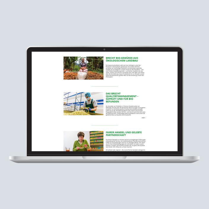 Brecht Website Desktop Einträge