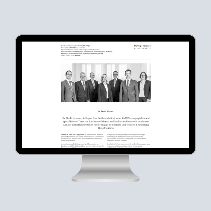 Dennig & Kollegen Website Desktop Ihr Recht mit uns