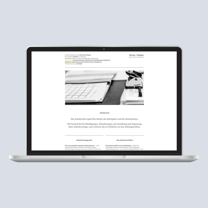 Dennig & Kollegen Website Desktop Navigation top
