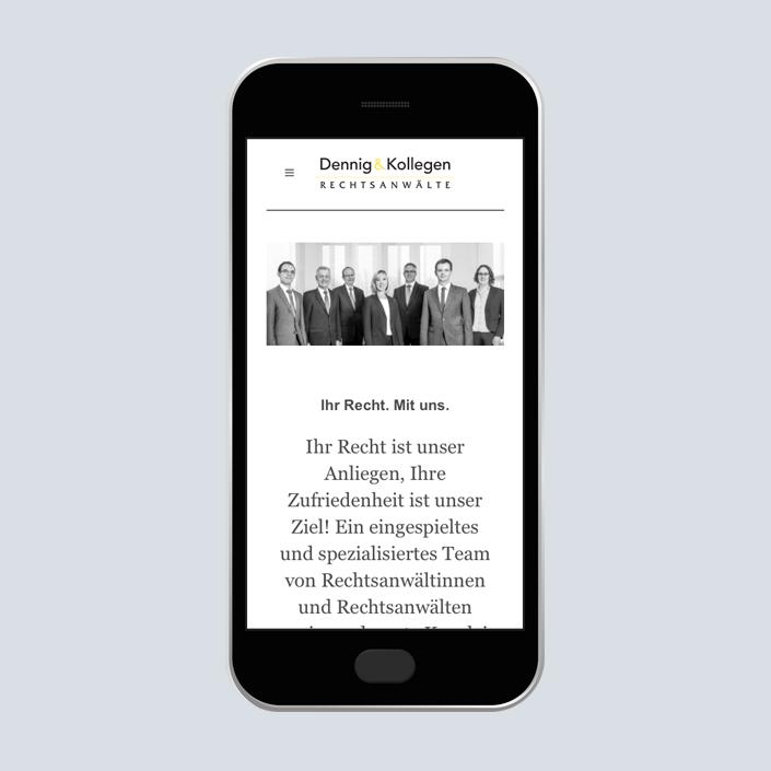 Dennig & Kollegen Website mobile Team