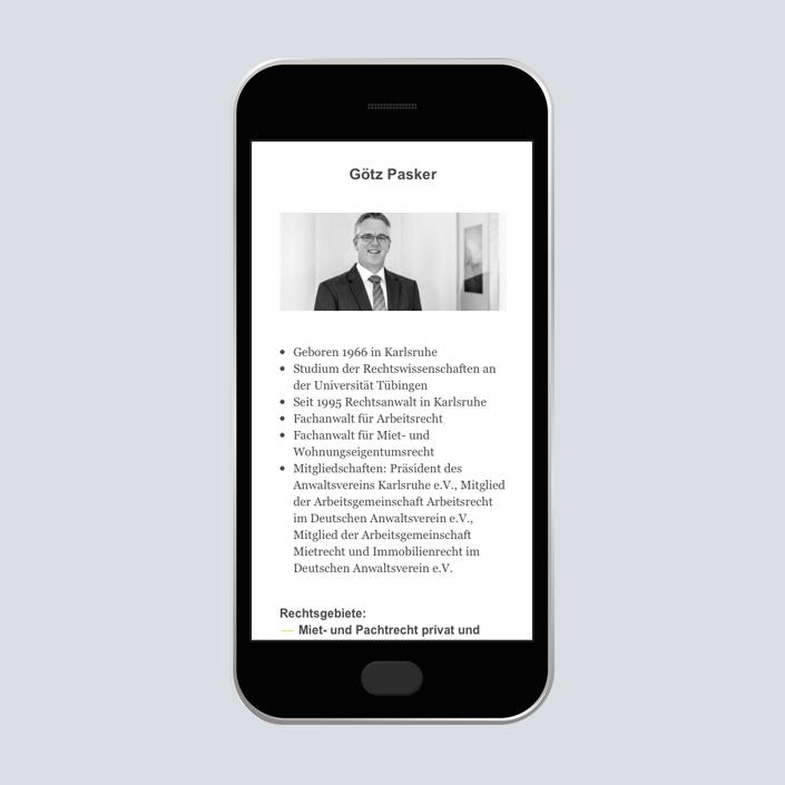 Dennig & Kollegen Website mobile Pasker