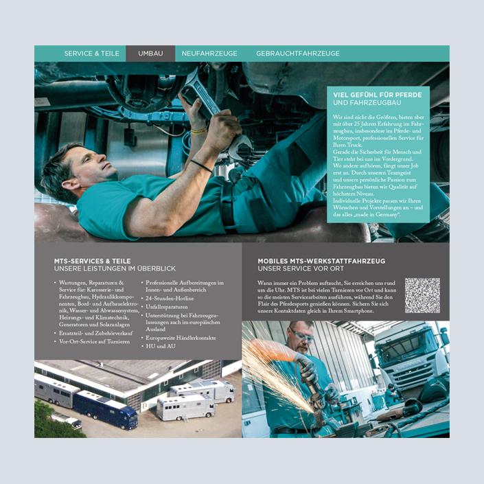 MTS Fahrzeugbau Flyer Innenseiten Umbau