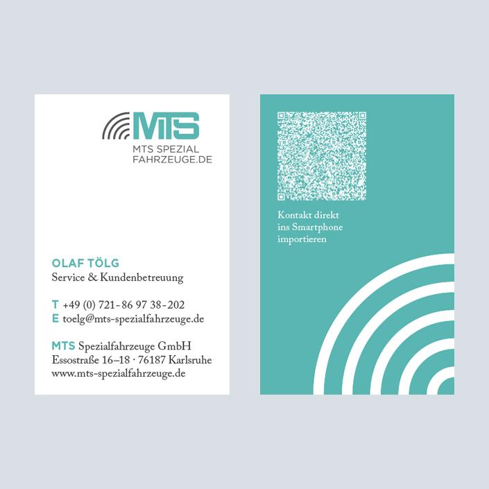 MTS Fahrzeugbau Visitenkarte