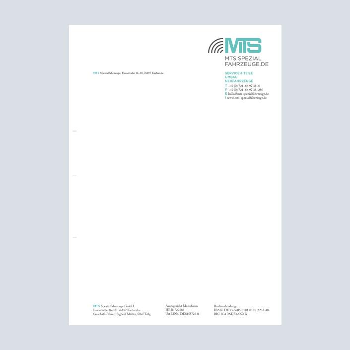 MTS Fahrzeugbau Briefbogen