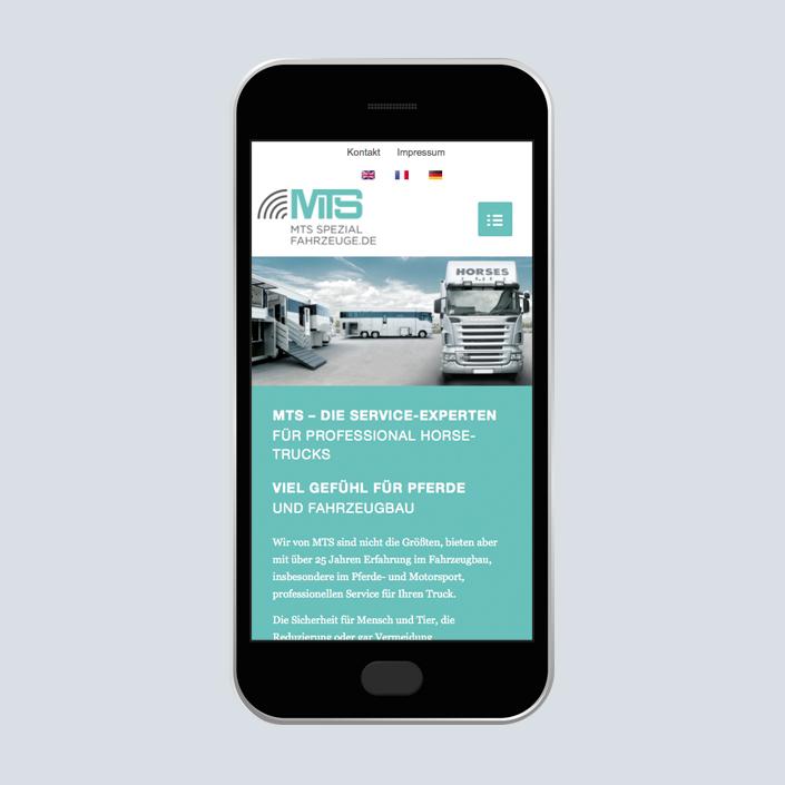MTS Fahrzeugbau Website mobile Service Experten