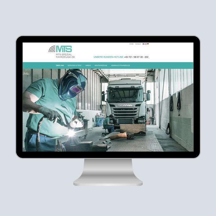 MTS Fahrzeugbau Website Desktop
