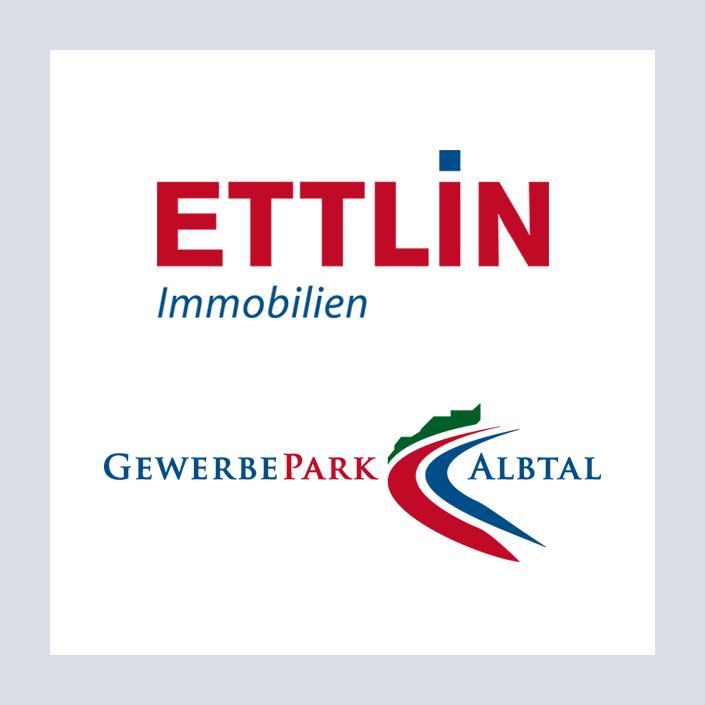 Vitrum 128 Logos Ettlin Immobilien und Gewerbepark Albtal