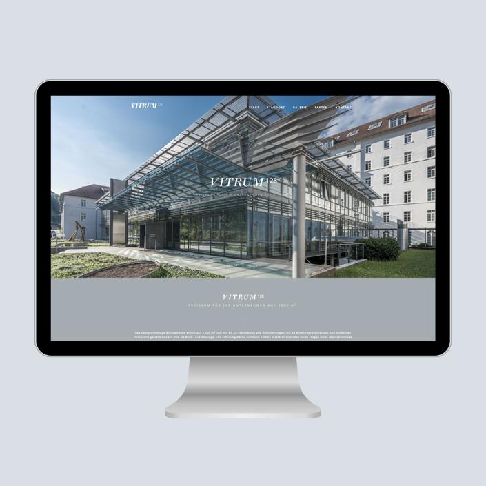Vitrum 128 Website Desktop Start