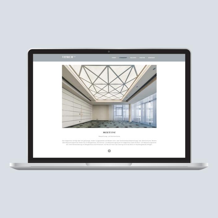 Vitrum 128 Website Desktop