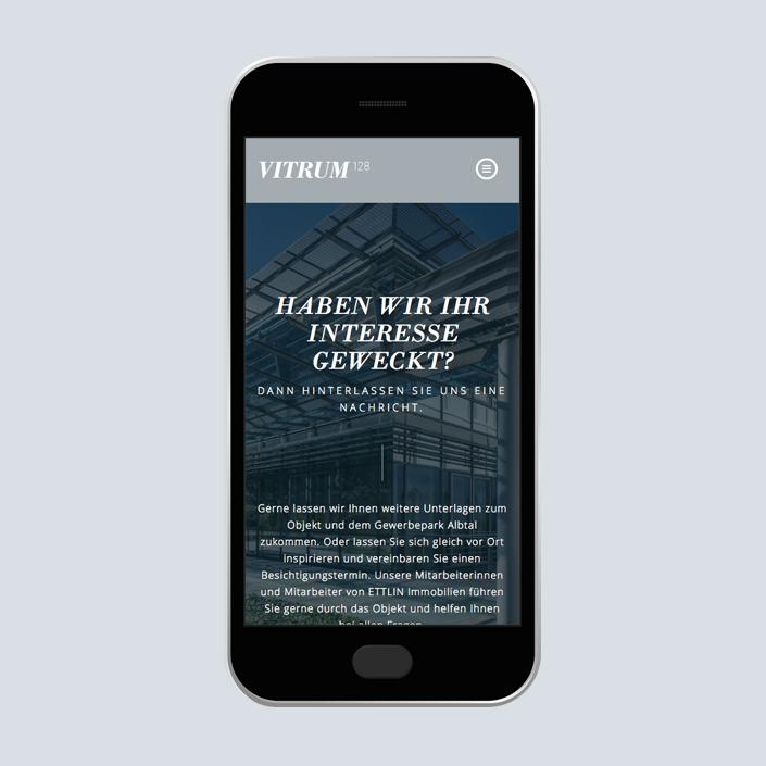 Vitrum 128 Website Mobile