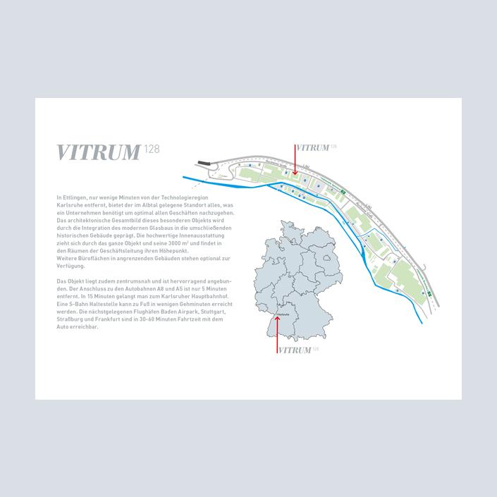 Vitrum 128 Broschüre Innenseite Anfahrt