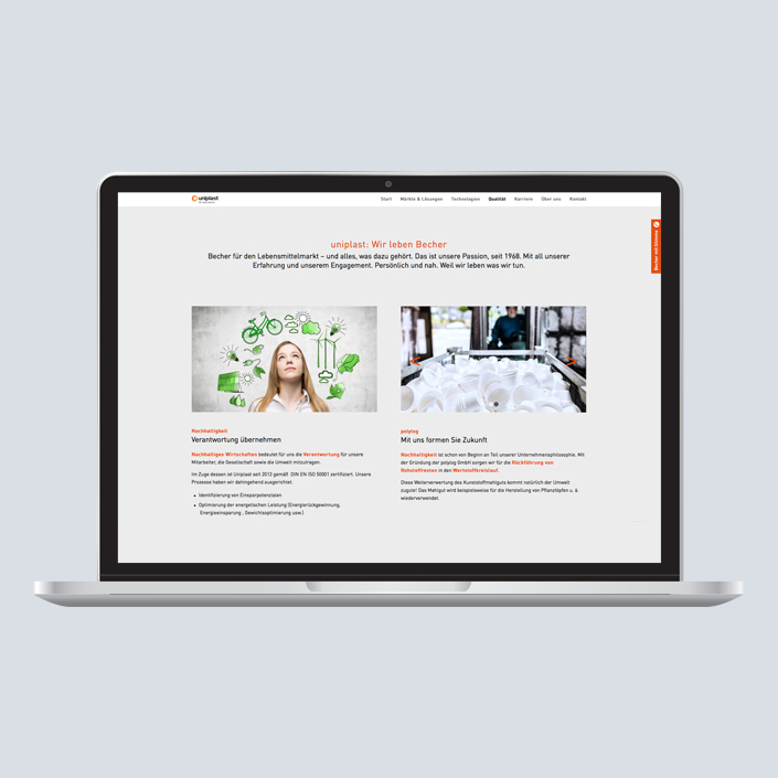 uniplast Website Desktop