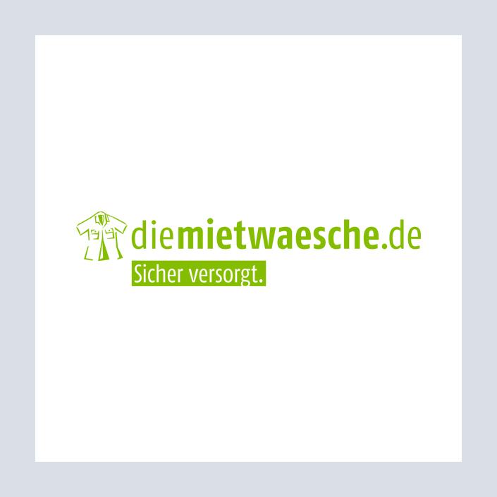 diemietwaesche.de Logo und Wortmarke mit Icon und Claim
