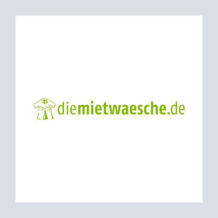 diemietwaesche.de Logo und Wortmarke mit Icon