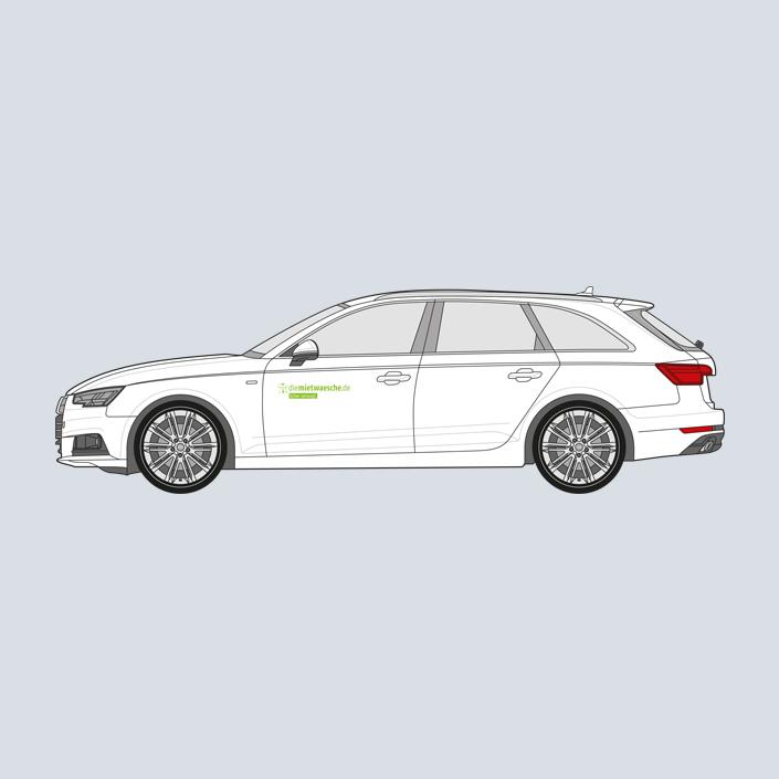 diemietwaesche.de Fahrzeugbeschriftung Auto