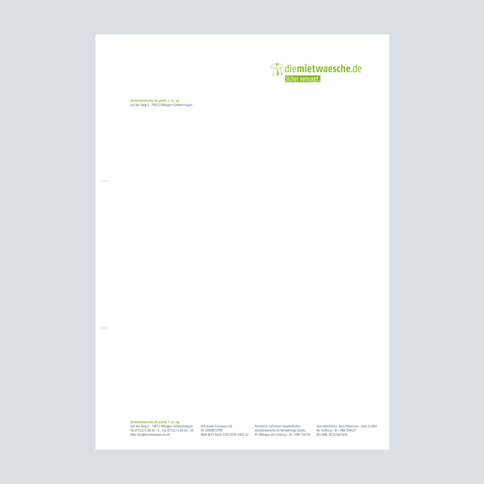 DMW Briefbogen Layout Corporate Design