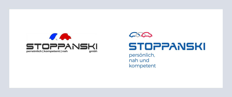 Stoppanski Gegenüberstellung Logo alt und neu