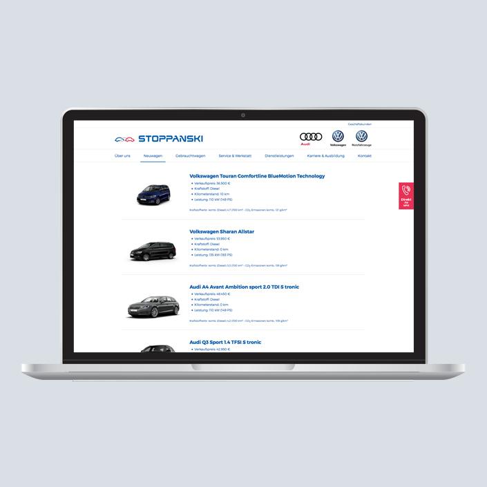 Stoppanski Desktop Angebot Neuwagen