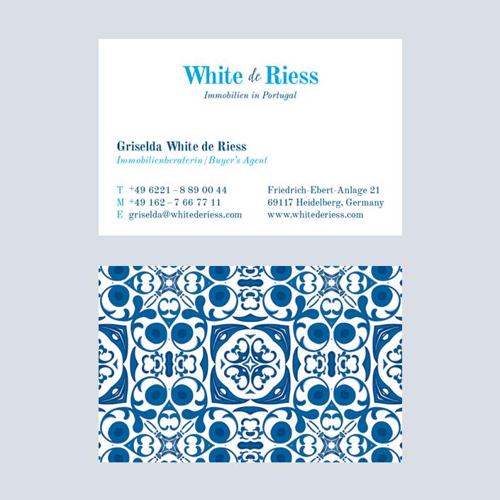 White de Riess Visitenkarte