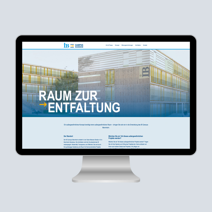 IB Campus Mannheim Factbook Website