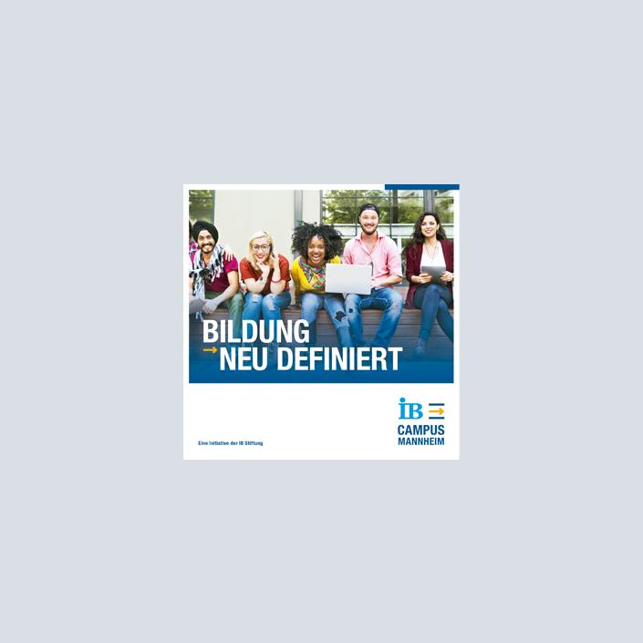 IB Campus Mannheim Broschüre Titelseite