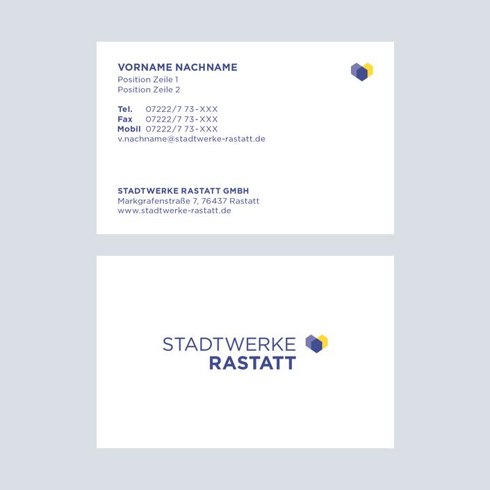 Stadtwerke Rastatt Visitenkarte