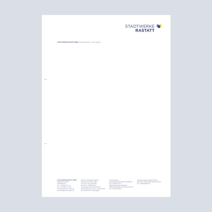 Stadtwerke Rastatt Briefbogen