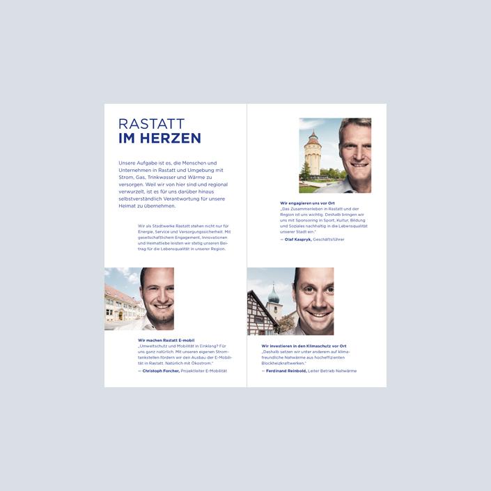 Stadtwerke Flyer Imagekampagne Innenseiten